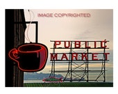 "Seattle's Best Coffee at the Market,  Very Fine Art  Photograph available in 8X10"", 11X14"", 5X7"" and a note card with envelope!"