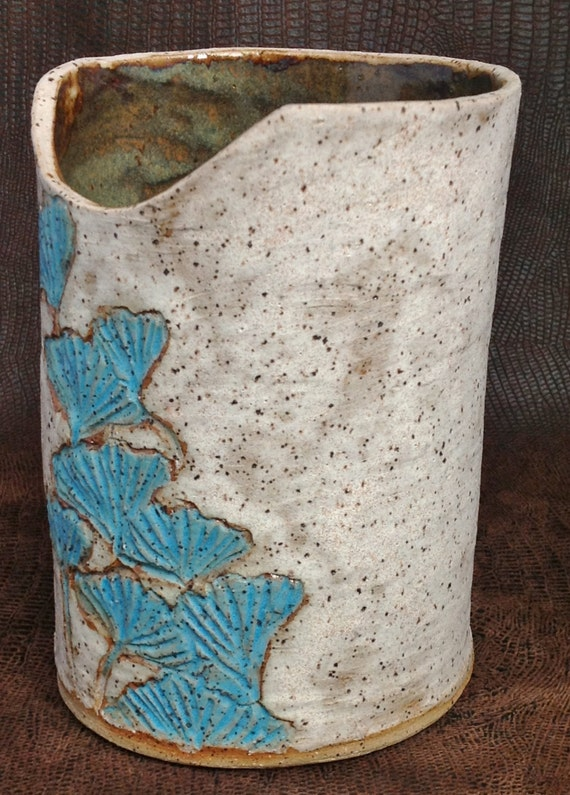 Stoneware Wine Chiller Wine Cooler Crock Or Vase Gingko