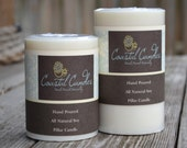 2 Soy Pillar Candles Unscented