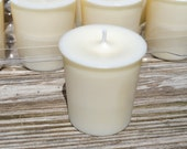 12 Unscented Soy Votive Candles Dye-Fragrance Free Ivory
