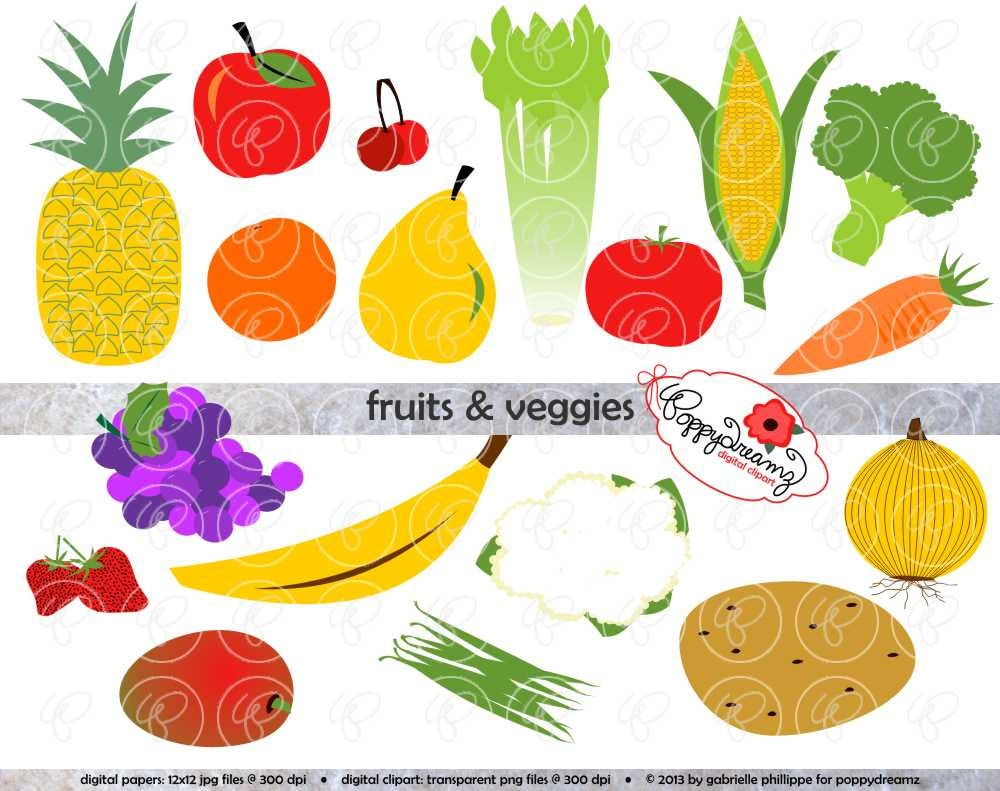 Fruit Vegetables Clip Art Fruits Veggies Clip Art
