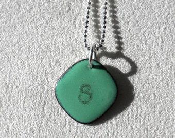 Initial Pendant Green