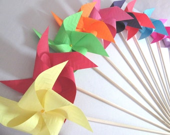 Chevron Pinwheels Set of 12 Perfect for or a Birthday Party or a Baby Shower or a Bat Mitzvah or other party favors