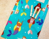 Clothespin Bag- Peg Bag- Organizer- Laundry- Mermaids