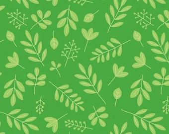 Zoofari Green Leaves by Doodlebug Designs for Riley Blake, 1/2 yard