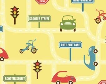 Cruiser Blvd Yellow Main by Sheri McCulley Studio for Riley Blake, 1 yard