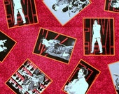 Listing for Crysania - Elvis Presley live in Vegas red cotton fabric 2 3/4 yards