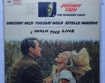 "Rare ""I Walk the Line"" Vinyl Soundtrack (1970) Johnny Cash - Very Good Condition"