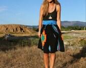 Silk print skirt
