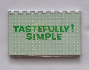Handmade Tastefully Simple Blank Recipe Book