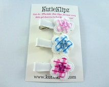 Cute Posey Flower Trio Hair clips - set of 3
