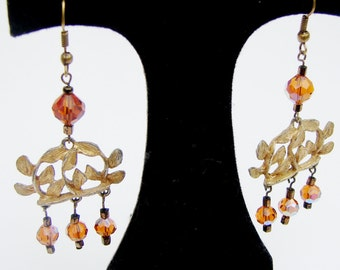 Orange Chandelier Earrings
