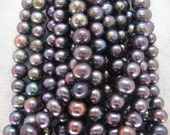 Full Strand Rainbow Peacock Freshwater Pearls 6-7mm, 15 Inches