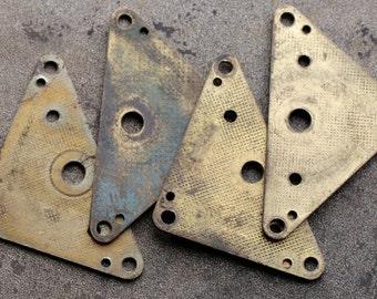 Large vintage alarm clock parts -- brass -- D11