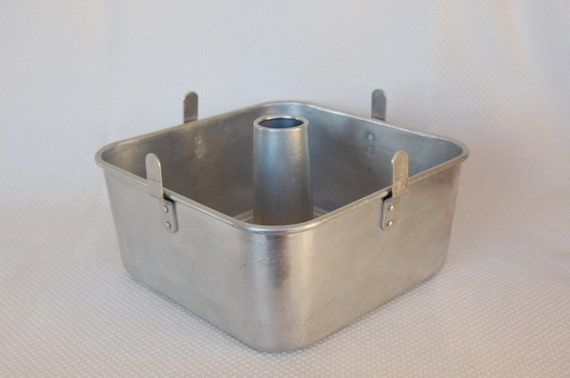 Vintage Mirro 5395m Square Angel Food Cake Pan Square Bundt