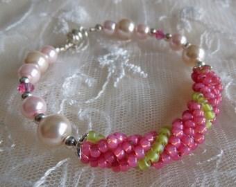 Bracelet Bangle Style Girls Bead work  Nubelle Twist Bracelet