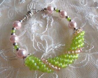 Beaded Bracelet Band style Russian Spiral beadwork Bracelet for Girls Bracelet