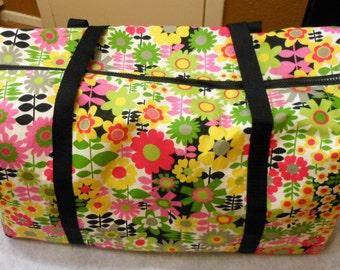 Field of Flowers Large Duffel Bag