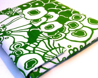 iPad Case, iPad Cover, iPad Sleeve in Mod Green Flower
