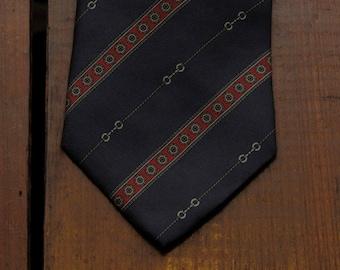 vintage Lanvin tie with bridle pattern