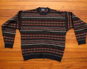 mens vintage Pendleton fairisle knit style sweater