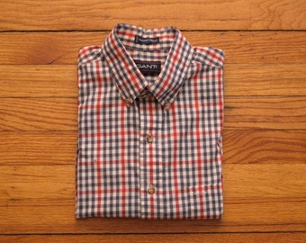 mens vintage Gant checkered button down shirt