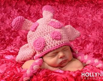 Crochet pink giraffe hat newborn toddler giraffe hat newborn photography prop crochet giraffe hat pink giraffe print pink giraffe birthday