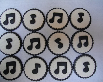 Musical Notes Fondant Cupcake Toppers