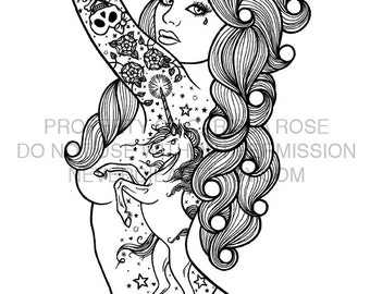 Digital Download Print Your Own Coloring Book Outline Page - Shock Tart by Carissa Rose