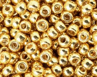 Seed Beads-8/0 Round-PF557 Permanent Finish-Galvanized Starlight-Toho-16 Grams