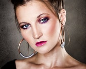 """6g Solid Copper Hoops with Steel Coil Closure - Earrings for Stretched Lobes, 2 7/8"""" Outer Diameter - Gauges - Gauged Hoops"""