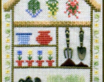 The Potting Shed - Charm Embellishments - Speciality Stitches - Counted Cross Stitch - Little Leaf Design Kit - Elizabeth's Design