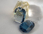 Sterling Silver denim blue graphic swarovski earrings