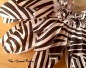 Extra Large Black and White Zebra Print Gerbera Daisy Hair Clip