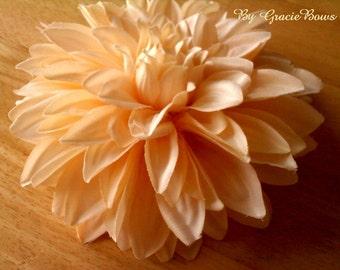 Extra Large Cream Dahlia Flower Hair Clip