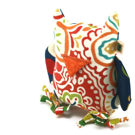 Extra Durable Dog Toy Owl 'DOUBLE FABRIC LAYER Construction'