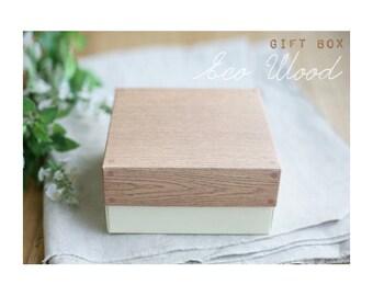 Wood pattern printed box (Two sizes)-swp0242