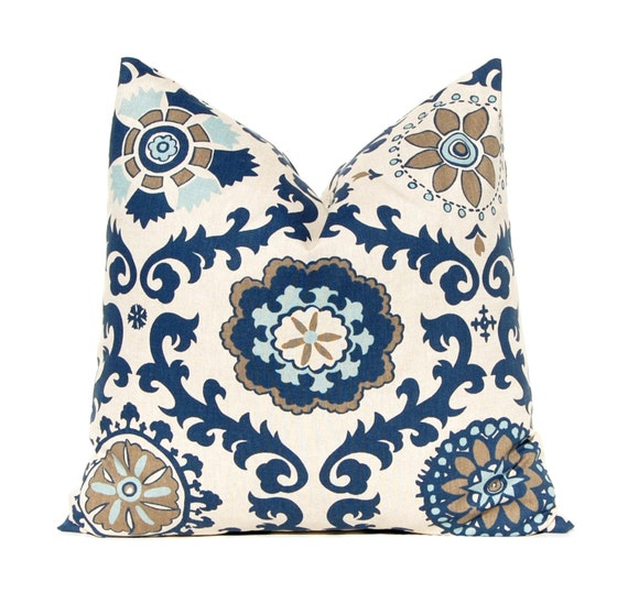 Decorative Pillow Covers 22 X 22 : Decorative Throw Pillow Covers 22 x 22 Navy by FestiveHomeDecor