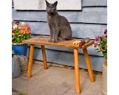 Cottage Garden Bench: Rustic Picnic Table Bench Wooden Garden Bench