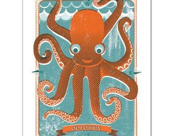 Ltd Edition Octopus Screen Print