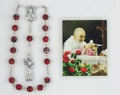Padre Pio Novena Chaplet with relic card
