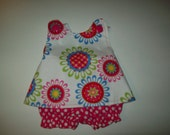 Baby Girl  Custom Boutique Pinafore With Bloomers  Size 0-3 months Ready To Ship