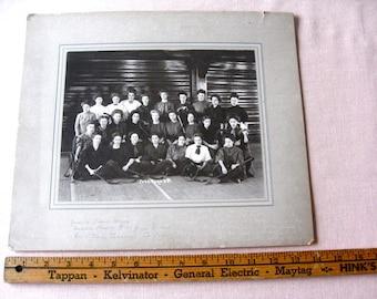 """Women's College Field Hockey Team Vintage  Original Photograph  Odd Photo 1909   12""""  x 14""""   Iowa State Teacher's College"""