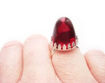 Crown Ruby Ring July birthstone