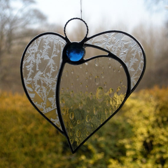 Abstract Stained Glass ornament (Angel Heart)