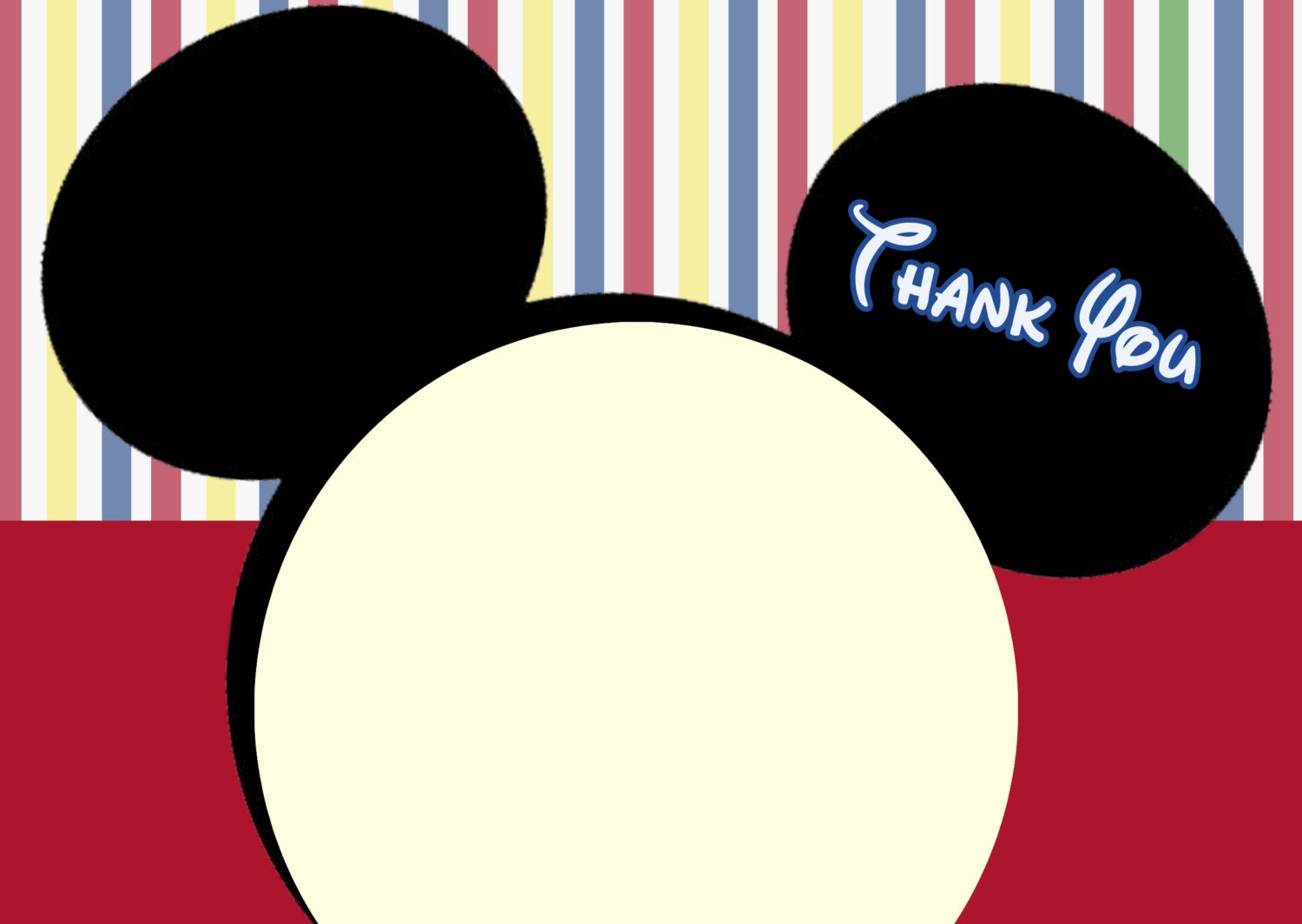 Mickey Mouse Clubhouse Thank you cards. Mickey Mouse note