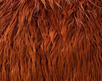 Mongolian Rust Faux Fur 18x30 Photography Prop