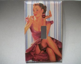 SWITCH PLATE COVER - Vintage Pinup