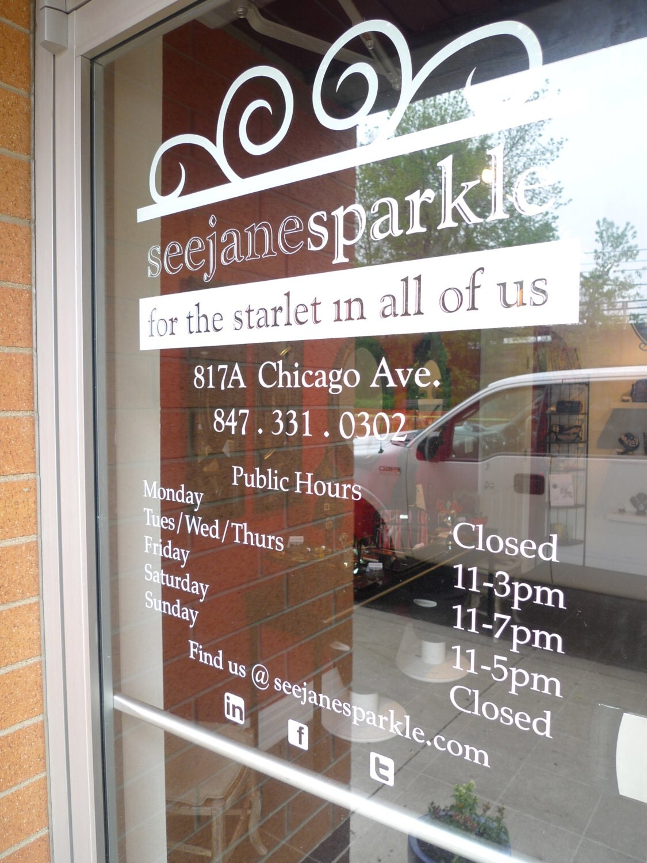 custom business hours store window vinyl decal