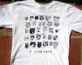 I Like Cats Kids White Tshirt